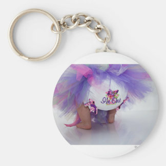 I'm One Bloomers Basic Round Button Keychain
