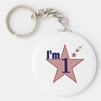 I'm one (boy 1st birthday party) keychain