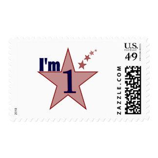 I'm one (boy 1st birthday party) postage