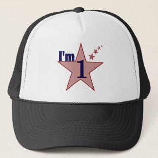 I'm one (boy 1st birthday party) trucker hat