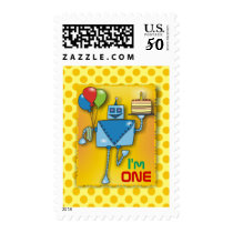 I'm ONE Cute Robot Postage Stamps