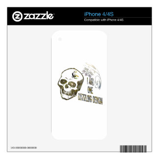 I'm One Dazzling Demon, Sparkling Skull iPhone 4 Skins