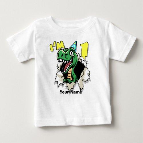 Im One Dinosaur Rip Baby T_Shirt