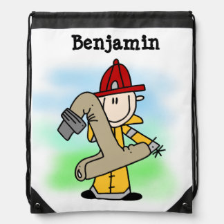 I'm One Firefighter Drawstring Bag