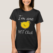 Im One Hot Chick Funny Sarcastic Chickens Premium T-Shirt