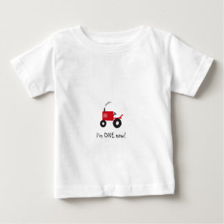 """""""I'm ONE now!"""" Baby Tractor T-Shirt"""