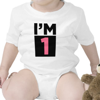 I'm One Pink First Birthday Shirt