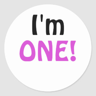 I'm One Classic Round Sticker