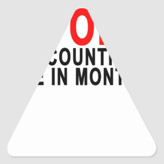 I'M ONE STOP COUNTING MY AGE IN MONTHS!.png Triangle Sticker