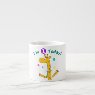 I'm One Today - Giraffe Design Espresso Cup