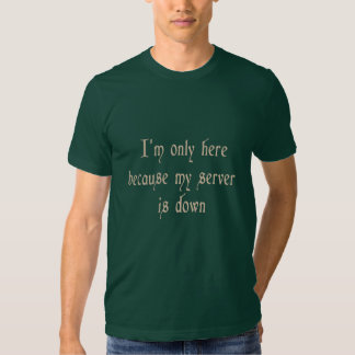 I'm Only Here Because My Server Is Down T Shirts