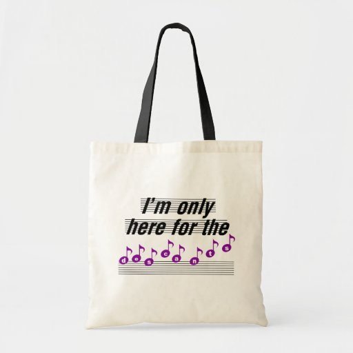 I'm only here for the descants budget tote bag