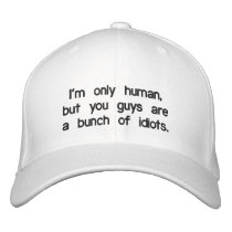 im-only-human-but-you-guys-are-a-bunch-of-idiots01 embroidered hat