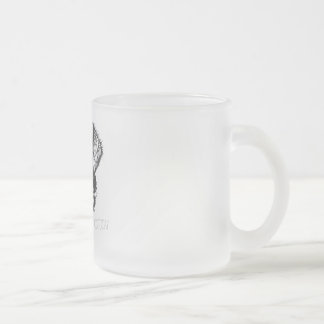 I'm only talking with my dog today frosted glass coffee mug