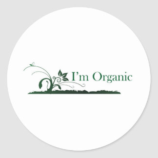I'm Organic Classic Round Sticker