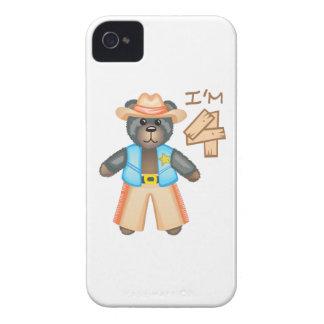 IM OSO DE CUATRO CUMPLEAÑOS iPhone 4 Case-Mate FUNDAS