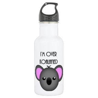I'm Over Koalafied - Funny Koala Animal Pun Water Bottle