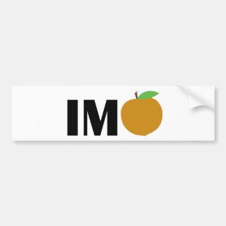 IM Peach Bumper Sticker