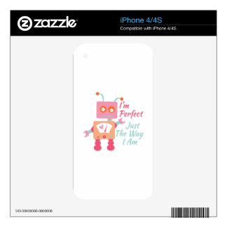 I'm Perfect Decals For The iPhone 4S