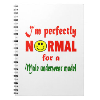 I'm perfectly normal for a male underwear model. note book