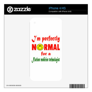 I'm perfectly normal for a Nuclear Medicine Techno Decals For The iPhone 4