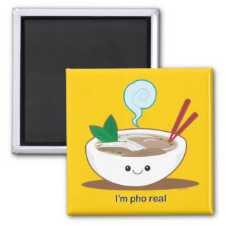 I'm Pho Real 2 Inch Square Magnet