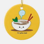 I'm Pho Real Double-Sided Ceramic Round Christmas Ornament