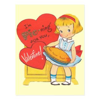 I'm Pie-ning For You Valentine Postcard