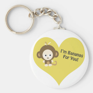 Im plátanos para usted mono llavero redondo tipo pin