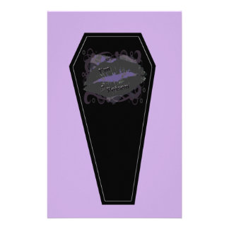 I'm Poison Coffin Purple Stationary Paper Stationery