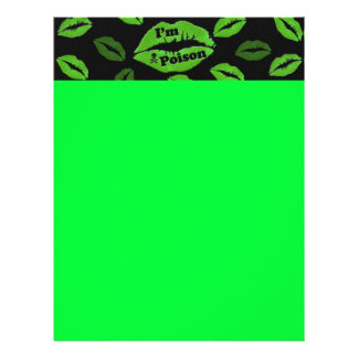 I'm Poison Stationary Paper - Neon Green