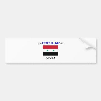 I'm Popular In SYRIA Bumper Sticker