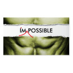 I'm Possible Fitness Trainer Business Card