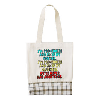 I'm pro-choice and so is my mother... zazzle HEART tote bag
