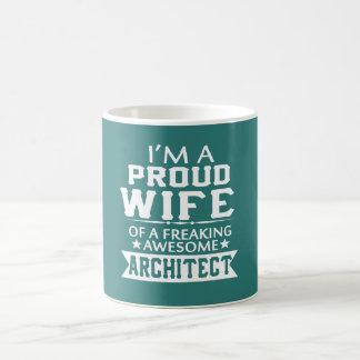 I'M PROUD ARCHITECT'S WIFE COFFEE MUG