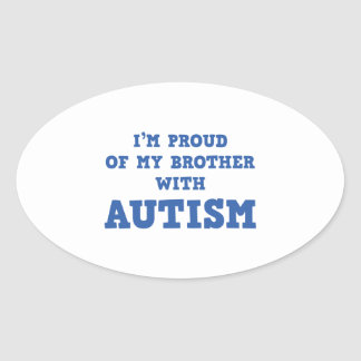 I'm Proud of My Brother With Autism Oval Sticker