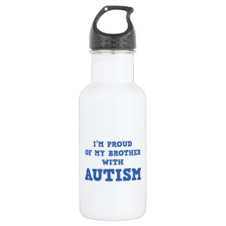 I'm Proud of My Brother With Autism Stainless Steel Water Bottle
