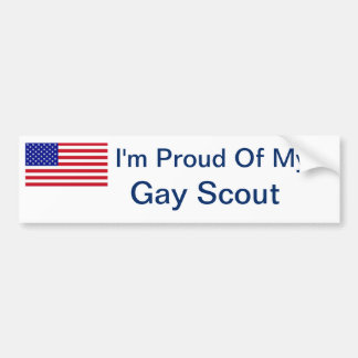 I'm Proud of My Gay Scout Bumper Sticker