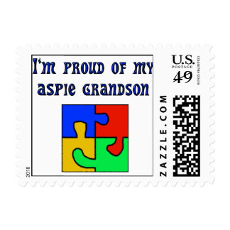 I'm Proud of My Grandson Postage Stamps