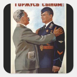 I'm proud of my son! (1941)_Propaganda Poster Square Sticker