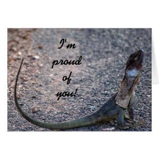 Im proud of you! Frilled lizard, Australia, Note Card