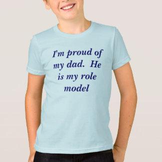 I'm proud ofmy dad.  boy's t-shirt