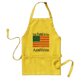 Im Proud to Be American Adult Apron