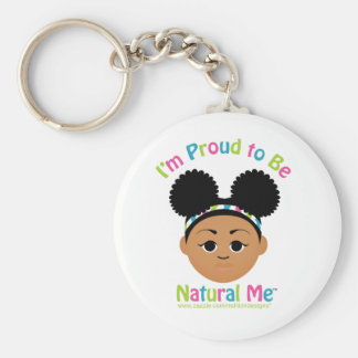 I'm Proud to Be Natural Me! Basic Round Button Keychain