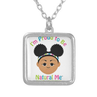 I'm Proud to Be Natural Me! Gifts Silver Plated Necklace