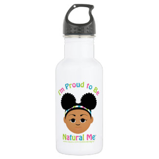 I'm Proud to Be Natural Me! Stainless Steel Water Bottle
