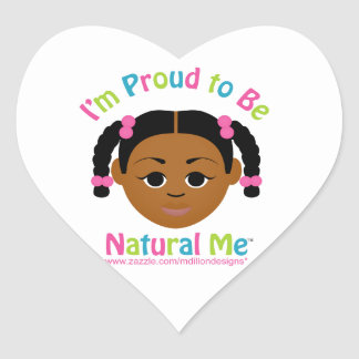 I'm Proud to Be Natural Me! Stickers