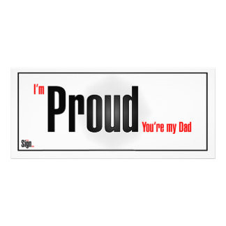 I'm proud you're my dad rack card