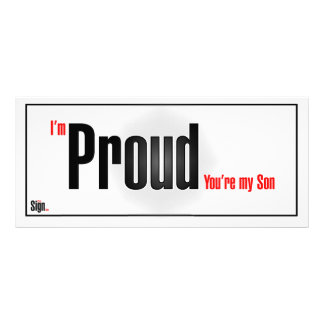 I'm proud you're my son rack card