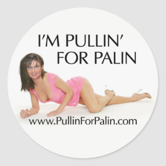 I'm Pullin' For Palin Stickers